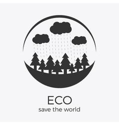 eco style rounded flat logo design vector image