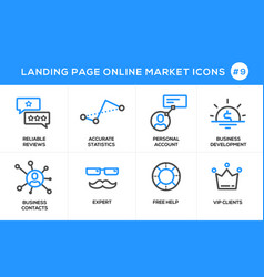 flat line design concept icons for online shopping vector image