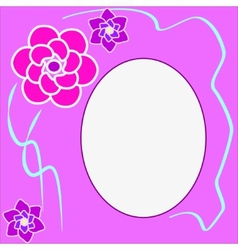 Floral round frame with place for text vector image