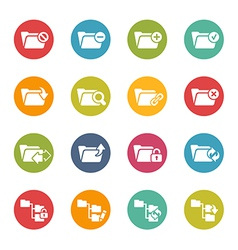 Folders icons vector