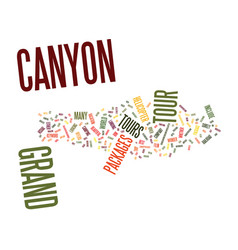 Grand canyon tour packages text background word vector
