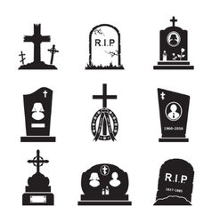 Grave icons vector