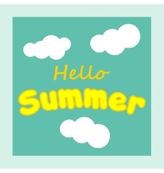 Hello summer summer background summer fun vector