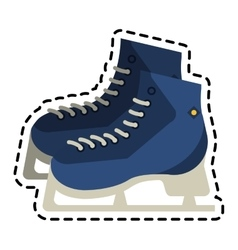 Isolated ice skate design vector image
