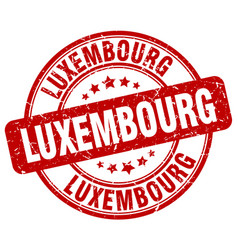 Luxembourg red grunge round vintage rubber stamp vector