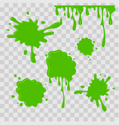 Paint drop abstract green slime on vector