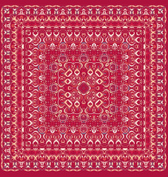 Red colored handkerchief vector
