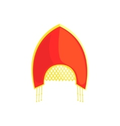 Russian national women headdress vector
