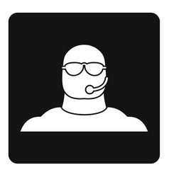 Safety guard man icon simple vector