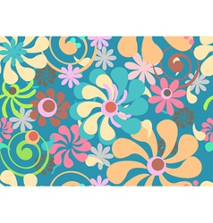 Seamless beautiful floral background vector image