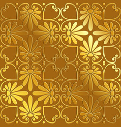 seamless gold floral ornament vector image vector image