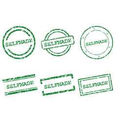 selfmade stamps vector image vector image
