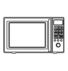 Sketch silhouette with oven microwave vector