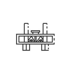Thin line sacramento bridge icon vector