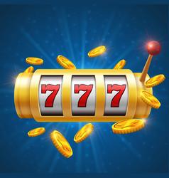 Winner gambling background with slot vector