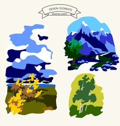 0815 5 mountain v vector image