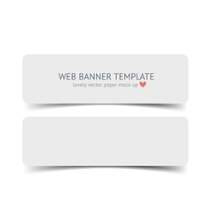 Realistic web banner header footer vector