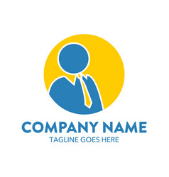 businessman logo-2 vector image