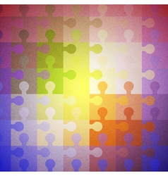 Abstract color background of puzzles vector image