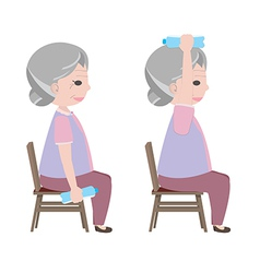 Exercise for old person vector
