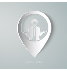 Businessman web pointer icon vector