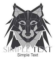 Geometric wolf logo or husky 02 vector