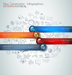 Infographics modern template to classify data and vector