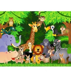 animals cartoon vector image