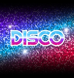 Mirror disco ball poster vector