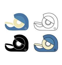 Scotch tape icons set vector