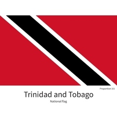 National flag of trinidad and tobago with correct vector