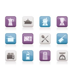 Kitchen and household equipment icon vector