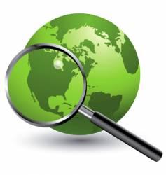 globe mag vector image
