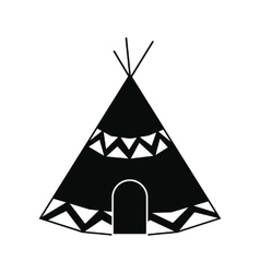 Indian tent icon vector