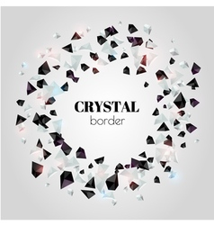 Abstract shiny crystal border vector