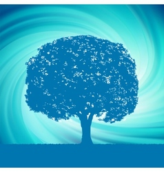 blue mystical tree vector image