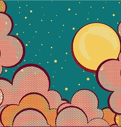 Cartoons sky background with grunge elements vector image