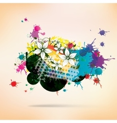 Abstract background with splash vector image vector image