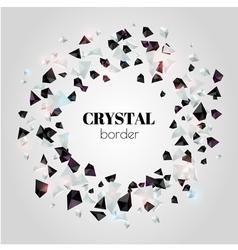 Abstract shiny crystal border vector