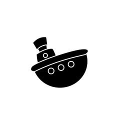 Boat silhouette vector