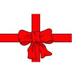 bow knot ribbon vector image vector image