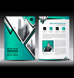 business brochure flyer template in a4 size green vector image vector image
