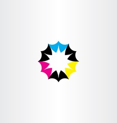 Business icon abstract logo colurful cmyk sign vector
