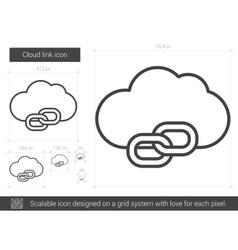 Cloud link line icon vector