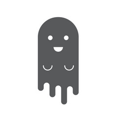 cute ghost simple style halloween banner vector image