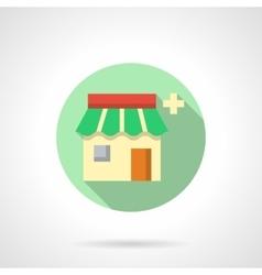 Drugstore flat color design icon vector