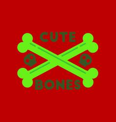 Flat icon on stylish background cross bones vector