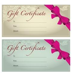 Gift voucher vector