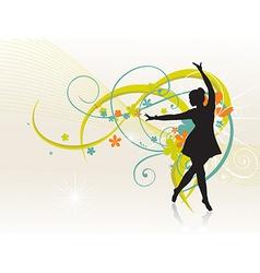 Girl dancing beautiful background vector image