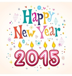 Happy new year 2015 2 vector